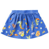 Oilily - Girls 'Mermaid Fish' Jersey Skirt-Skirt-Sweet Peas Kidswear