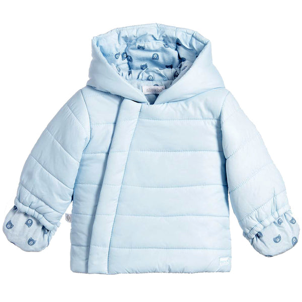 Absorba - Baby Blue Hooded Down Coat-Coat-Sweet Peas Kidswear