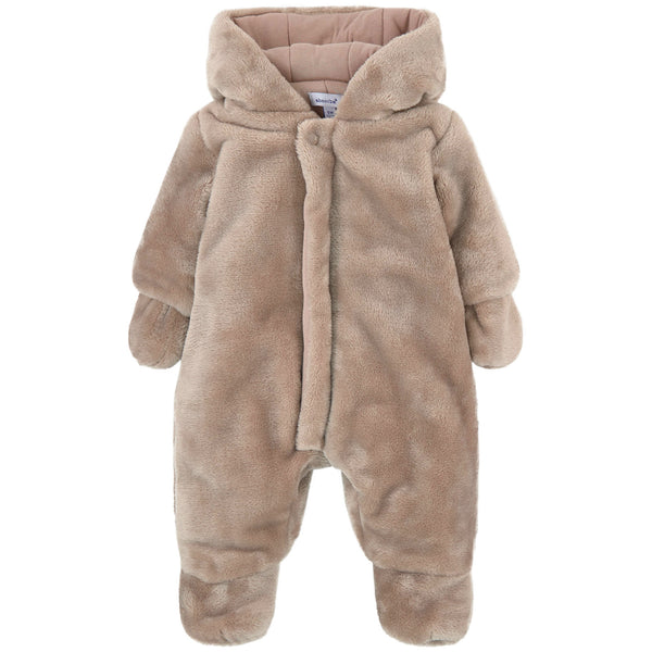 Absorba - Unisex Baby Brown Bear Snowsuit-Pramsuit-Sweet Peas Kidswear