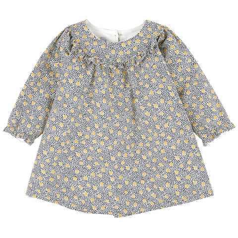 Absorba - Baby Girls Liberty Print Floral Dress-Dress-Sweet Peas Kidswear
