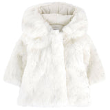 Absorba - Baby Girls Faux Fur Coat-Coat-Sweet Peas Kidswear