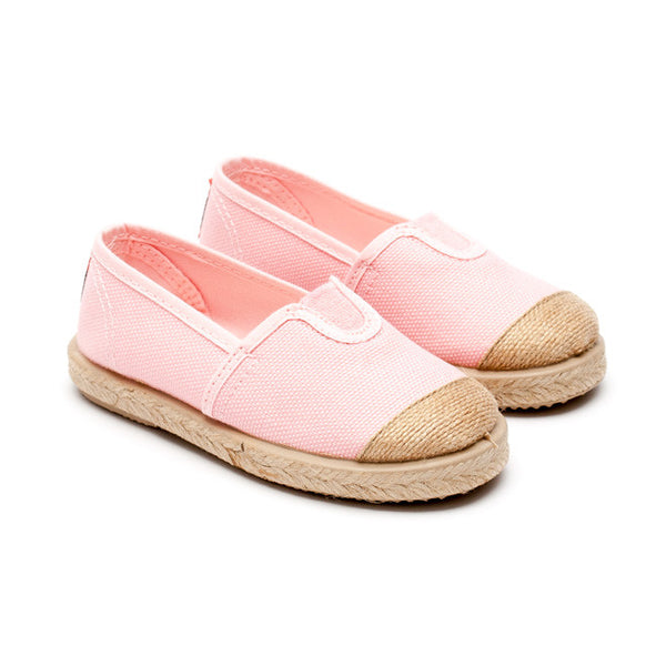 Cienta Baby Pink Espadrille-Canvas Shoes-Sweet Peas Kidswear