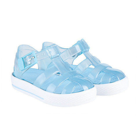 igor - 'Tenis' Clear Baby Blue Jelly Shoes-Jelly Shoe-Sweet Peas Kidswear