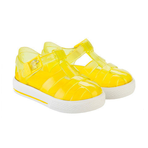 igor - 'Tenis' Clear Yellow Jelly Shoes-Jelly Shoe-Sweet Peas Kidswear