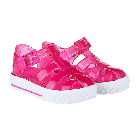 igor - 'Tenis' Fuchsia Pink Jelly Shoes-Jelly Shoe-Sweet Peas Kidswear