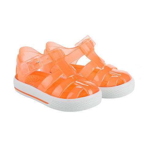 igor - 'Tenis' Orange Jelly Shoes-Jelly Shoe-Sweet Peas Kidswear