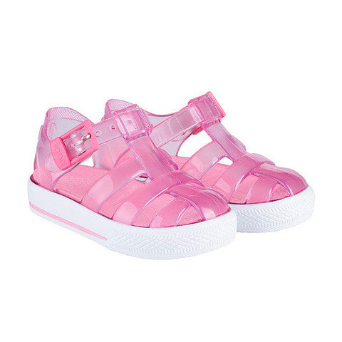 igor - 'Tenis' Clear Baby Pink Jelly Shoes-Jelly Shoe-Sweet Peas Kidswear