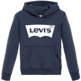 Levi's - Boys Navy Blue & White Logo Hooded Top-Hoodie-Sweet Peas Kidswear