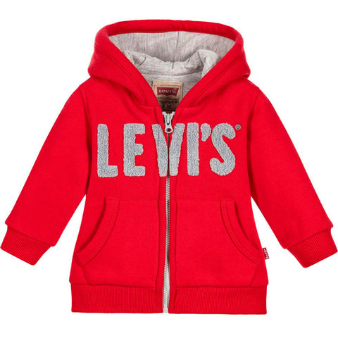Levi's - Boys Red Logo Zip-Up Top-Hoodie-Sweet Peas Kidswear