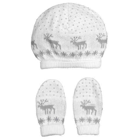 Mebi - Unisex Winter Knitted Hat & Glove Set-Baby Grow-Sweet Peas Kidswear