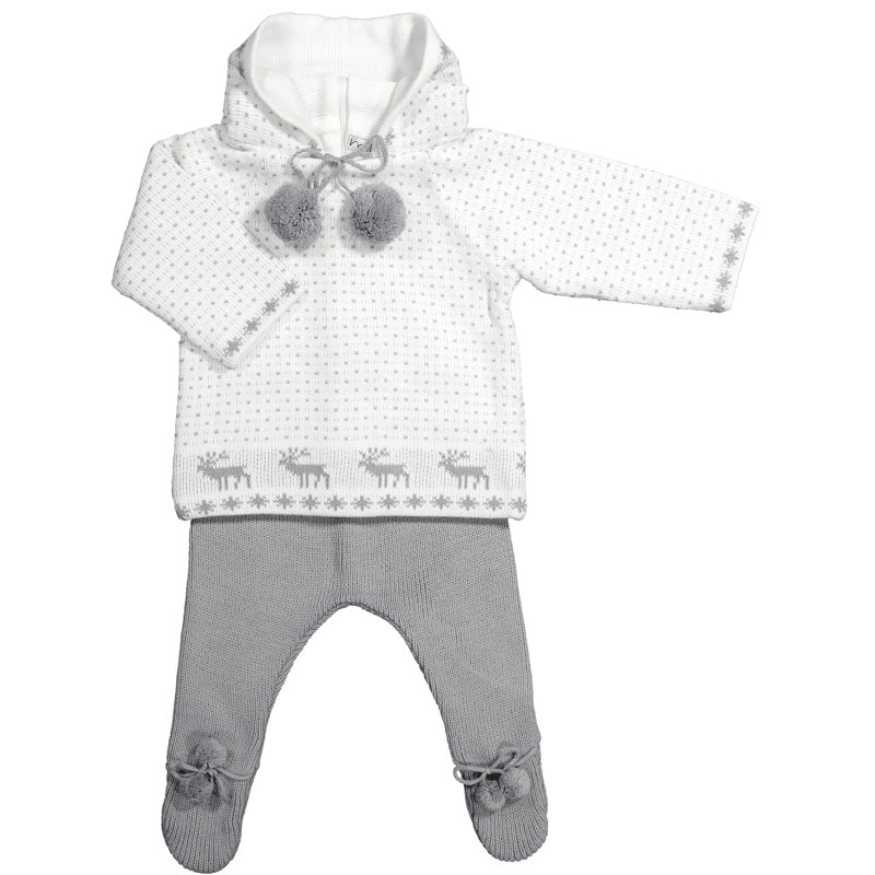 4715f3af3b1a Mebi - Unisex Winter Knitted 2 Piece Baby Outfit – Sweet Peas Kidswear