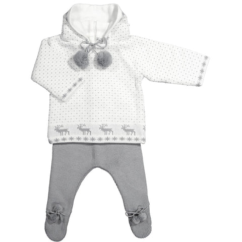 Mebi - Unisex Winter Knitted 2 Piece Baby Outfit
