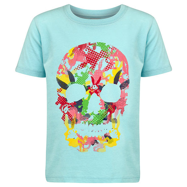 No Added Sugar - Animated Skull T-Shirt-T-Shirt-Sweet Peas Kidswear