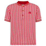 No Added Sugar - 'Rider' Red Polo Shirt-T-Shirt-Sweet Peas Kidswear