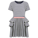 No Added Sugar - 'PeripheryI - Navy & Wide Eyed White' Dress-Dress-Sweet Peas Kidswear