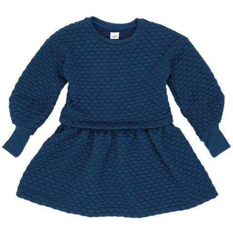 No Added Sugar - 'Feel Free' Dress - Navy-Dress-Sweet Peas Kidswear