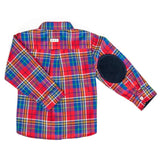 DOT - Red & Blue Plaid 'Jamie' Shirt-Shirt-Sweet Peas Kidswear