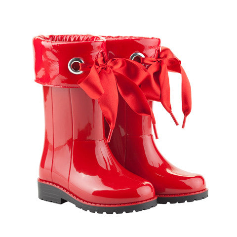 igor - Red Bow Wellies-Shoes-Sweet Peas Kidswear