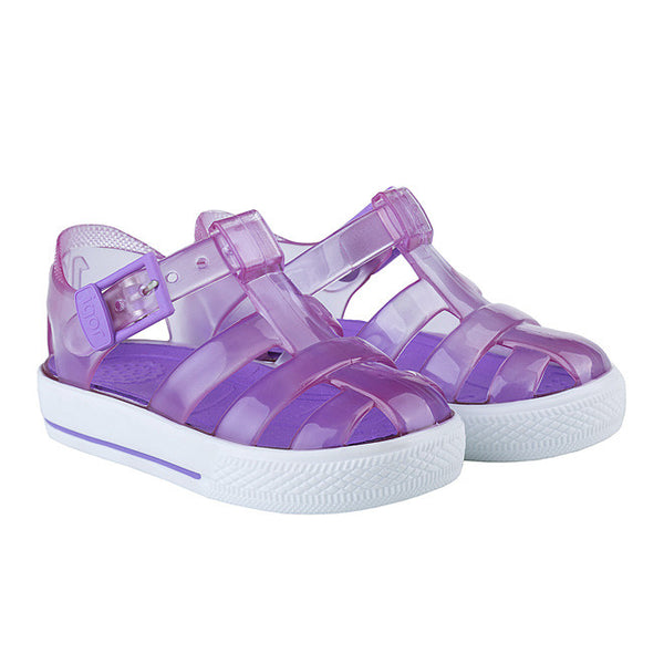 igor - 'Tenis' Clear Purple Jelly Shoes-Jelly Shoe-Sweet Peas Kidswear