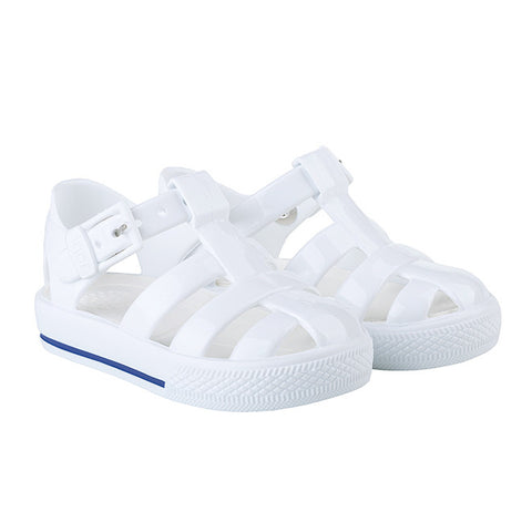 igor - 'Tenis' Solid White Jelly Shoes-Jelly Shoe-Sweet Peas Kidswear