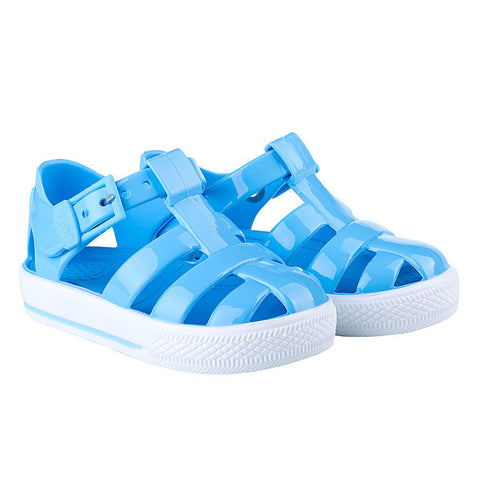 igor - 'Tenis' Solid Baby Blue Jelly Shoes-Jelly Shoe-Sweet Peas Kidswear