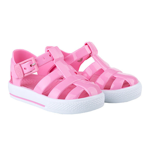 igor - 'Tenis' Solid Baby Pink Jelly Shoes-Jelly Shoe-Sweet Peas Kidswear