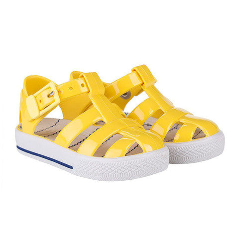 igor - 'Tenis Nautical' Yellow Jelly Shoes-Jelly Shoe-Sweet Peas Kidswear