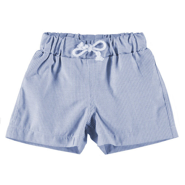 DOT - Boys Blue Stripe Swim Shorts-Swim Short-Sweet Peas Kidswear