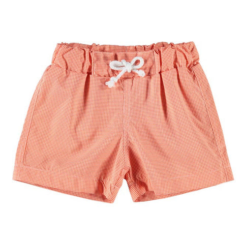 DOT - Boys Orange Check Swim Shorts-Swim Short-Sweet Peas Kidswear