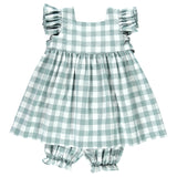 DOT - Emerald Check Alice Dress-Dress-Sweet Peas Kidswear
