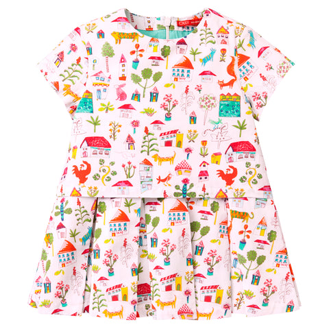 Oilily - Girls Doffy Short Sleeved Dress-Dress-Sweet Peas Kidswear