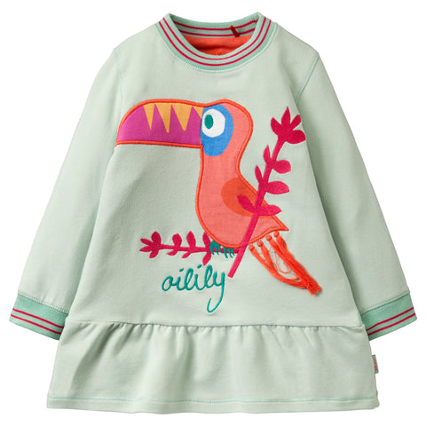 Oilily - Girls 'Hanouk' Long Sleeved Jumper Dress-Dress-Sweet Peas Kidswear