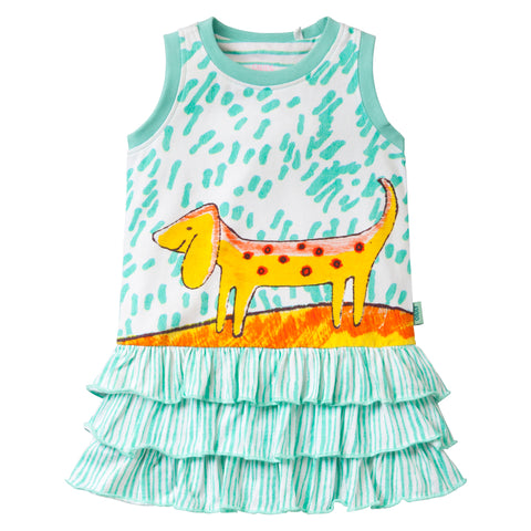 Oilily - Girls Tooftoof Sleeveless Summer Dress-Dress-Sweet Peas Kidswear