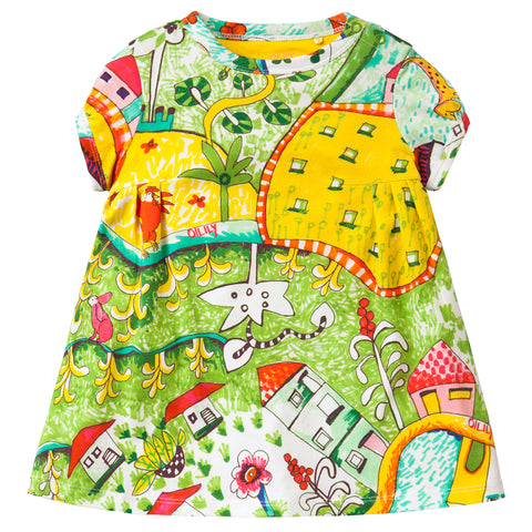 Oilily - Girls Trada Short Sleeve Summer Dress-Dress-Sweet Peas Kidswear
