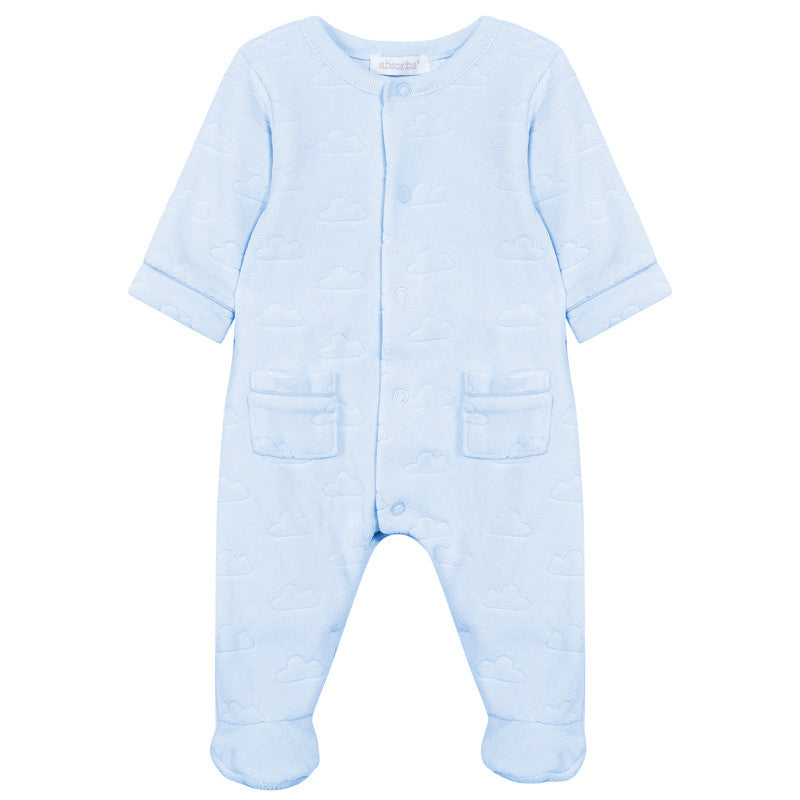 fb9ad417ba2b Absorba - Boys Blue Cloud Velour Babygrow – Sweet Peas Kidswear