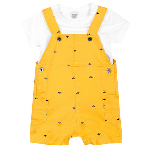 Absorba - Baby Boys Short Dungaree Set