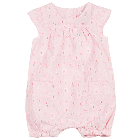 Absorba - Baby Girls Pink Floral Cotton Shortie-Shortie-Sweet Peas Kidswear