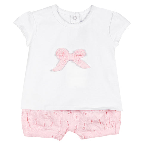 Absorba - Baby Girls Pink Two Piece Set-Outfit Set-Sweet Peas Kidswear