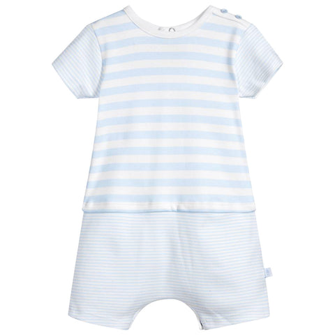 Absorba - Baby Boys Baby Blue and White Striped Shortie