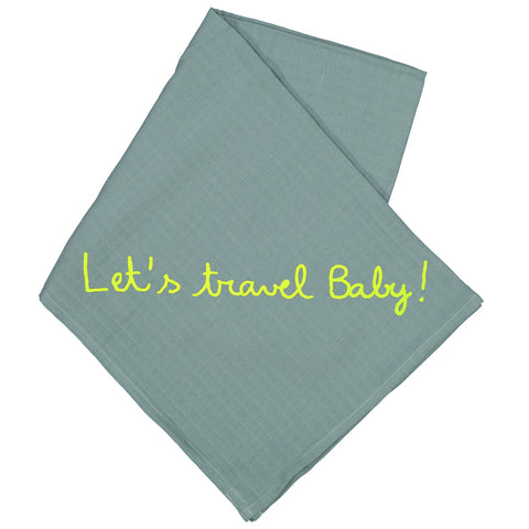 Absorba - 'Let's Travel Baby!' Green Muslin-Muslin-Sweet Peas Kidswear