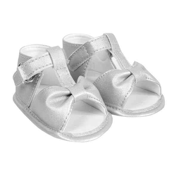 Absorba - Baby Girls White Pre-Walker Open-toe Shoes-Baby Pre-Walker Shoes-Sweet Peas Kidswear