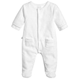 Absorba - White Cloud Velour Babygrow-Baby Grow-Sweet Peas Kidswear