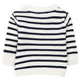 Absorba - Boys White & Navy Striped Jumper-Jumper-Sweet Peas Kidswear