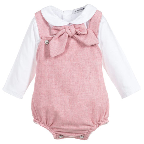 Babidu - Baby Girls Pink Shortie Set
