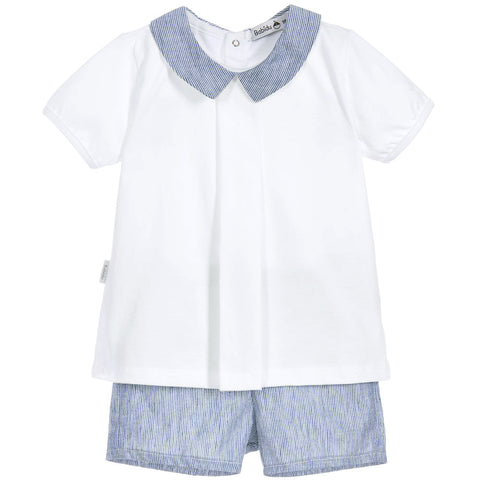 Babidu - Boys Blue T-Shirt and Shorts Outfit-Outfit Set-Sweet Peas Kidswear