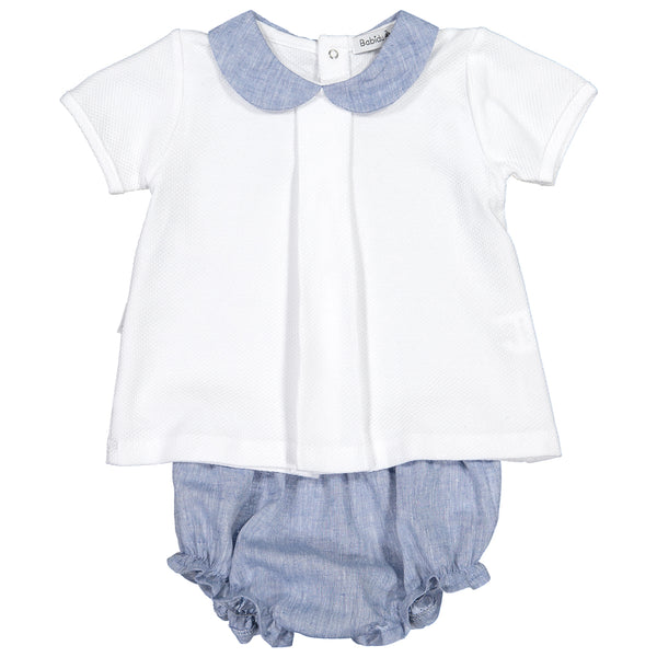 Babidu - Unisex Blue T-Shirt and Shorts Outfit-Outfit Set-Sweet Peas Kidswear