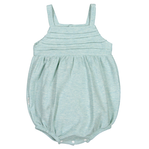 Babidu - Baby Girls Green Shortie Playsuit-Outfit Set-Sweet Peas Kidswear