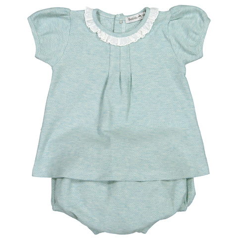 Babidu - Baby Girls Green 2 Piece Shorts Outfit-Outfit Set-Sweet Peas Kidswear