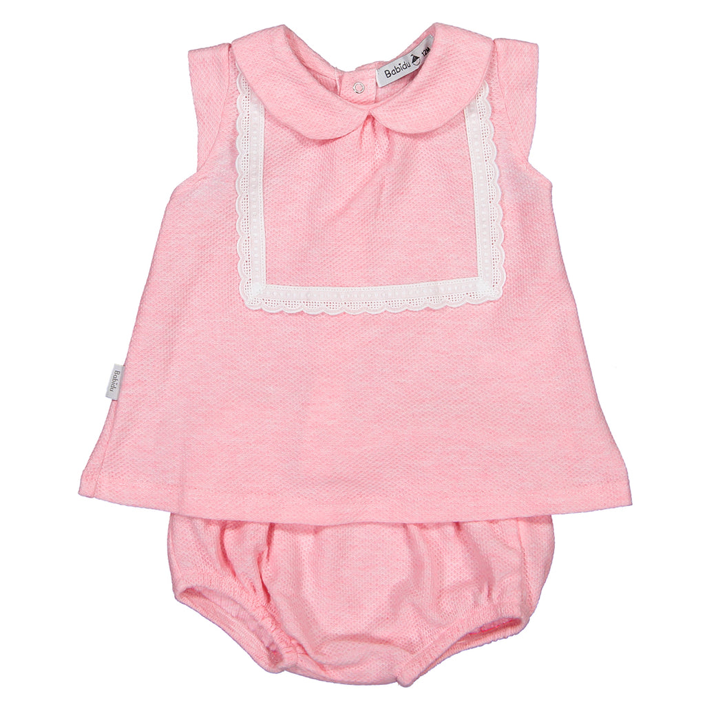 dcd620d4ed46 Babidu - Baby Girls Pink 2 Piece Shorts Outfit-Outfit Set-Sweet Peas  Kidswear