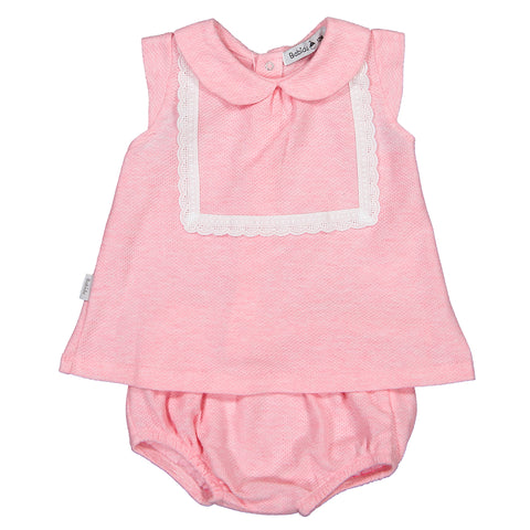 Babidu - Baby Girls Pink 2 Piece Shorts Outfit-Outfit Set-Sweet Peas Kidswear